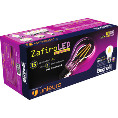 Lampadine Beghelli Zafiro LED - Kit risparmio