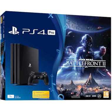 Sony PlayStation 4 Pro 1TB + Star Wars Battlefront II 1000GB Wi-Fi Nero