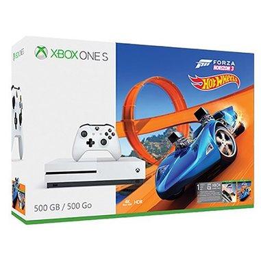 Microsoft Xbox One S 500GB Wi-Fi Bianco + Forza Horizon 3 + DLC Hot Wheels