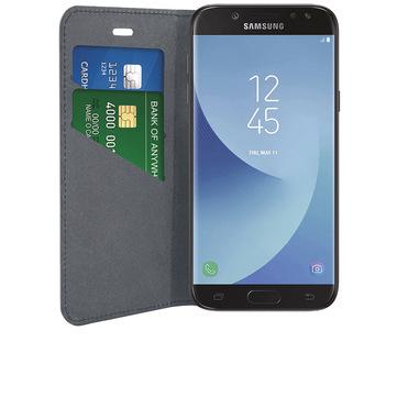 Phonix Custodia a Libro in Ecopelle per Samsung Galaxy J7 (2017) - Nera