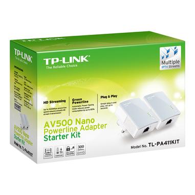 TP-LINK PA411KIT 500 Mbit/s Collegamento ethernet LAN Bianco 2 pezzo(i)