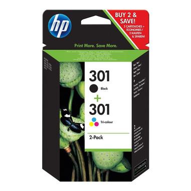 HP Confezione da 2 cartucce originali di inchiostro nero/tricromia 301