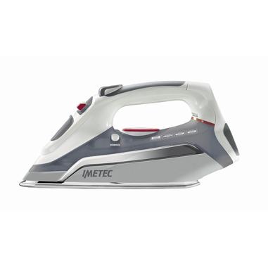 Imetec Zerocalc Pro 2300 Ferro da stiro a secco e a vapore Acciaio inossidabile 2300W Grigio, Bianco