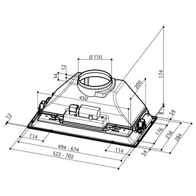 Faber CGR A52 Integrato Grigio 300m³/h E