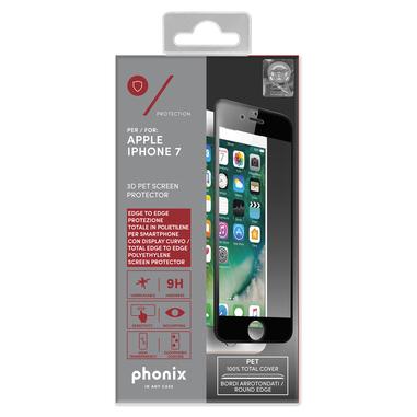 Phonix Salva Schermo in PET 3D per Apple iPhone 7 – Nero
