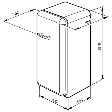 Smeg CVB20RNE1 congelatore libera installazione