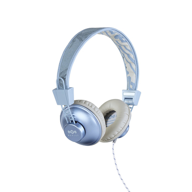 The House Of Marley Positive Vibration Stereofonico Padiglione auricolare Blu, Bianco cuffie