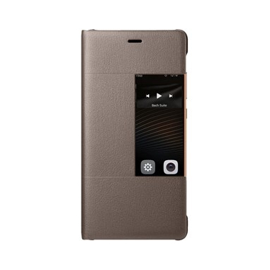 Huawei Custodia con finestra per P9 plus, marrone