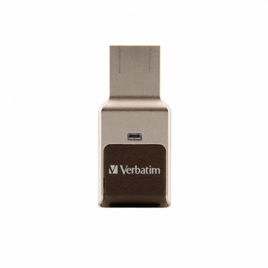 Verbatim Fingerprint Secure unità flash USB 64 GB USB tipo A 3.2 Gen 1 (3.1 Gen 1) Argento