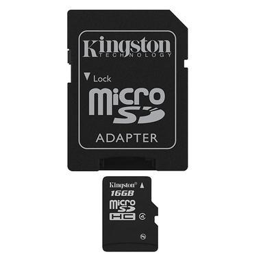 Kingston Technology 16Gb microSDHC 16GB MicroSDHC Flash Classe 4 memoria flash