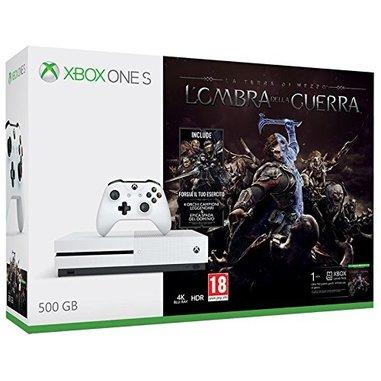Microsoft Xbox One S 500 GB Wi-Fi Bianco + L'ombra della guerra