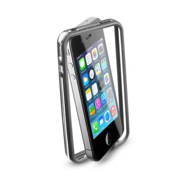 Cellularline Bumper - iPhone 4S/4 Cornice in gomma morbida colorata anti-urto Nero