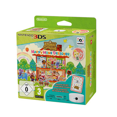Animal crossing happy home designer + amiibo card e lettore NFC  - Nintendo 3DS