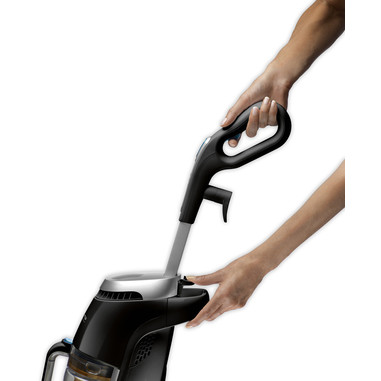Rowenta RY7535 Clean & Steam Scopa Elettrica e Lavapavimenti a Vapore, Senza Sacco