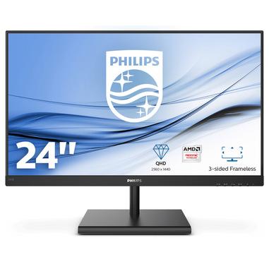 "Philips E Line 245E1S/00 LED display 60,5 cm (23.8"") 2560 x 1440 Pixel 2K Ultra HD LCD Nero"
