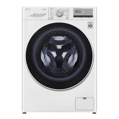 LG Smart AI DD™ F2WV4S7S0E lavatrice Libera installazione Caricamento frontale Bianco 7 kg 1200 Giri/min A+++-20%