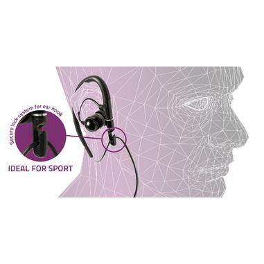 Meliconi Speak Sport Aggancio Stereofonico Cablato Nero auricolare per telefono cellulare