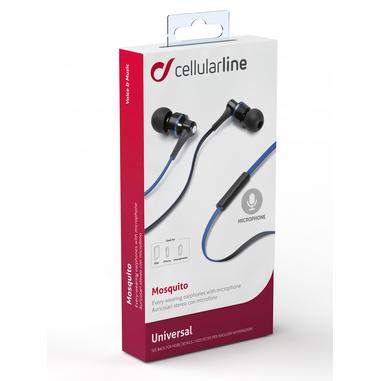 Cellularline Mosquito - Universale Auricolari in-ear leggeri dal suono pulito Blu