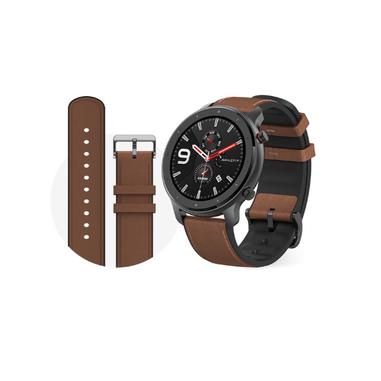 "Amazfit GTR 47mm smartwatch Alluminio, Marrone AMOLED 3,53 cm (1.39"") GPS (satellitare)"