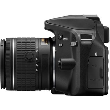 Nikon D3400 + 18-55mm DX SLR 24.2MP CMOS 6000 x 4000Pixel