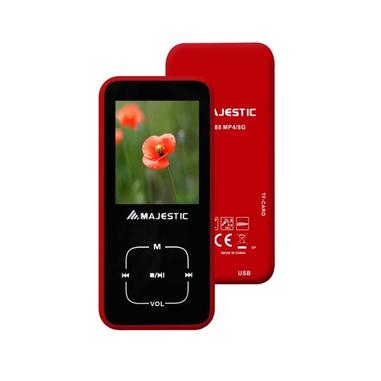 New Majestic BT-8488RD MP4 8GB Nero, Rosso lettore e registratore MP3/MP4