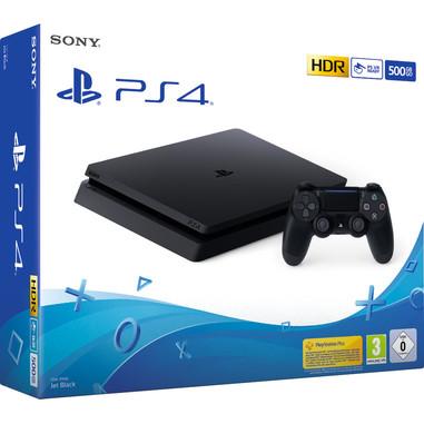 Sony Playstation 4 Slim 500GB E chassis Wi-Fi Nero + Cofanetto 4 giochi PlayLink