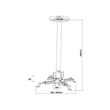 Nilox MB1011 Soffitto/muro Bianco supporto per proiettore