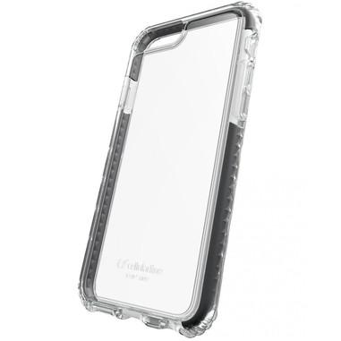 Cellularline Tetraforce Shock-Tech - iPhone 7 Plus Custodia con triplo livello di protezione contro urti e cadute Trasparente.Nero
