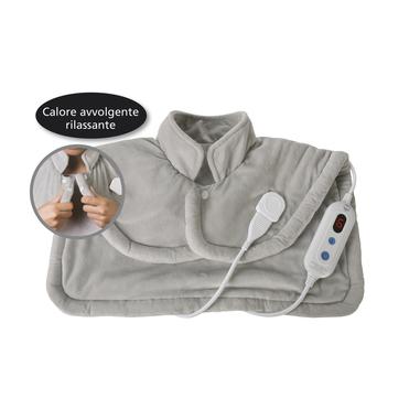 Macom Termo Poncho Plus Termoforo cervicale eletrrico con 6 intensità di calore 52 x 56 cm 100 W
