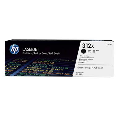 HP Confezione da 2 cartucce Toner originali nero ad alta capacità LaserJet 312X