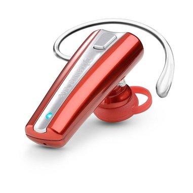 Cellularline Essential Headsets - Universale Auricolare Bluetooth mono leggero e colorato Rosso