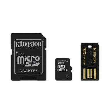 Kingston Technology 16GB Multi Kit 16GB MicroSDHC Flash Classe 10 memoria flash