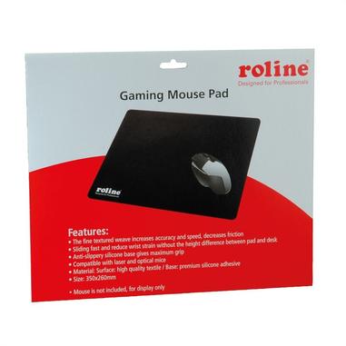 ROLINE 18.01.2045 tappetino per mouse Nero Tappetino per mouse per gioco da computer