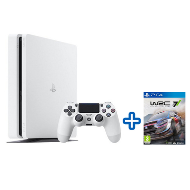 Sony PlayStation 4 Slim 500GB Bianco + WRC 7 PS4