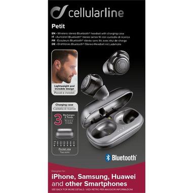 Cellularline BTPETITTWSK auricolare true wireless per telefono cellulare Stereofonico Grigio