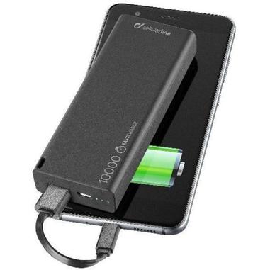 Cellularline FREEPSLIM10000K Polimeri di litio (LiPo) 10000mAh Nero batteria portatile